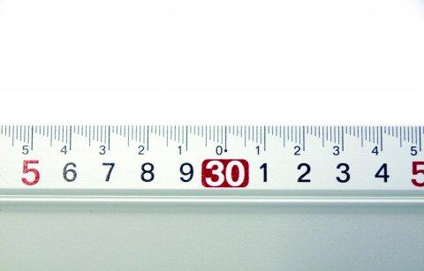 アルミカットスケールハンドル付100cm 快段目盛 ACS-100H
