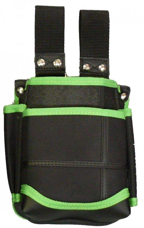 武尊魂 2段腰袋 自在ベルト通し 黒/緑